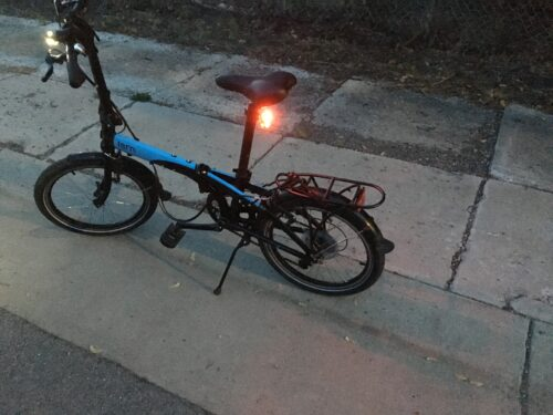 If my future success involves riding a Tern Link D8 folding bike, then I say bring it on. Look at those bright lights!