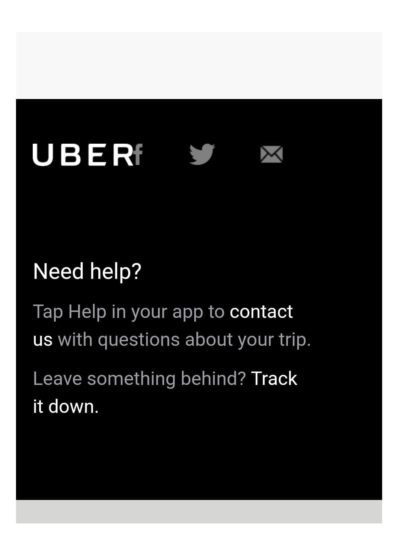 Uber receipt.
