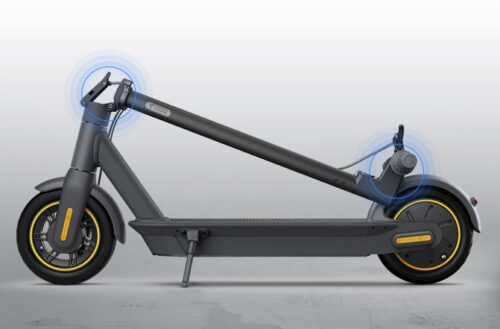 Easily fold your Ninebot KickScooter Max in three seconds.