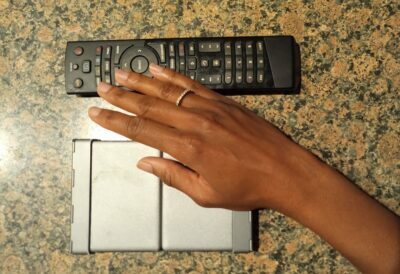 1byone keyboard folds to a compact size, about the size of my palm of my hand, and shorter in length than my standard TV remote.