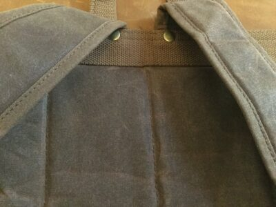 Padding covering the backside makes this backpack very comfortable.