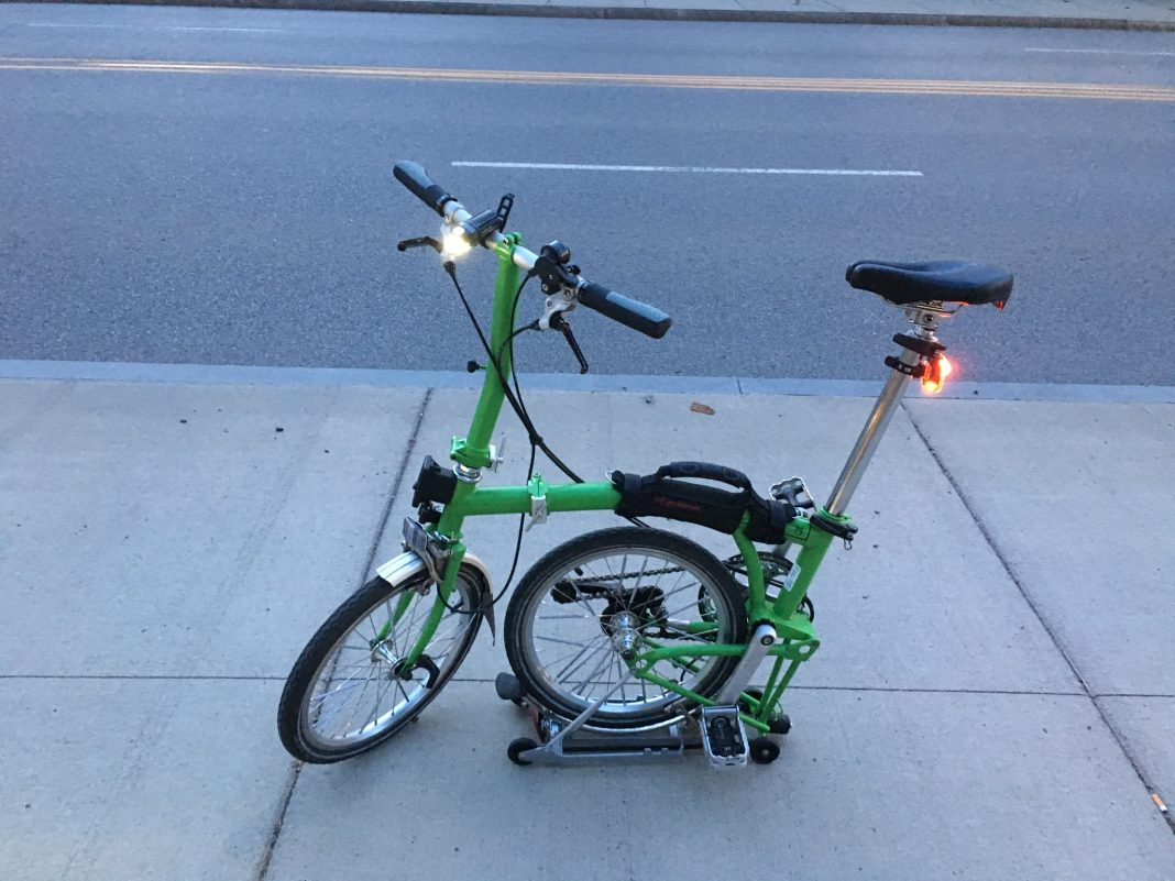 2-speed Brompton Folding bike