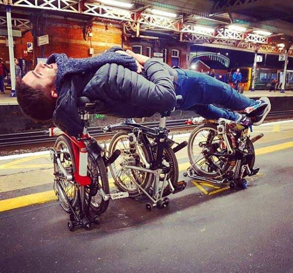 Folding bikes are so much fun to travel with.