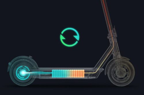 Innovative regenerative brake system turns your Ninebot KickScooter Max into an electric vehicle powered by electricity and recycled energy from riding.