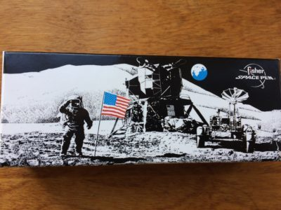 Fisher Space Pen Box With Picture Of Astronauts