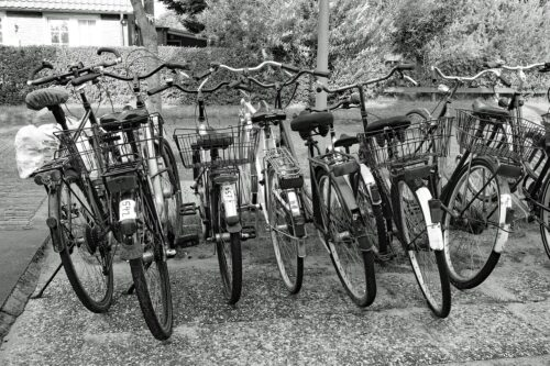 Hybrid bikes can be equipped with racks.