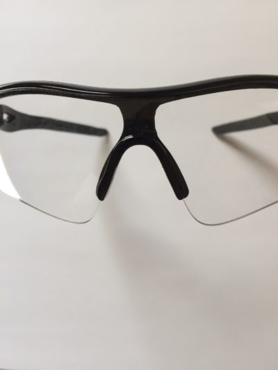 Front view of bicycling sunglasses.