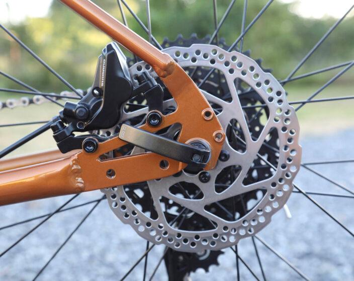 Hydraulic disc brakes.