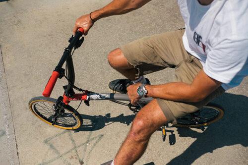 CHPT3 folding bike. Photo courtesy of Brompton folding bikes.