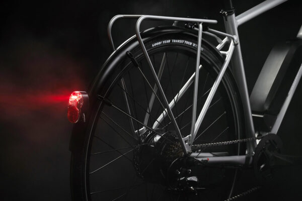 Equipped with full-length fenders, sturdy racks, bright lights, and long-rang batteries.